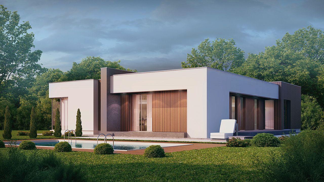 Fachadas de casas modernas de un piso planos y fachadas - Construcciones de casas modernas ...