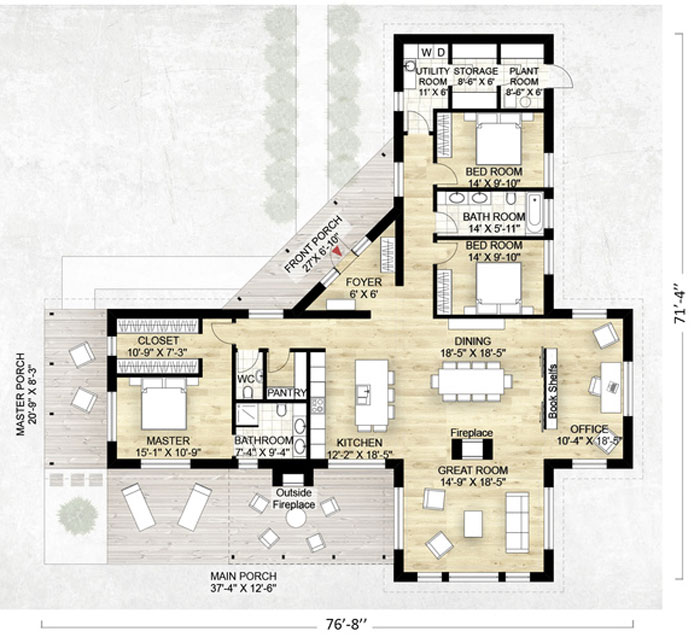 Planos de casas de campo planos y fachadas todo para for 3 bedroom ensuite house plans