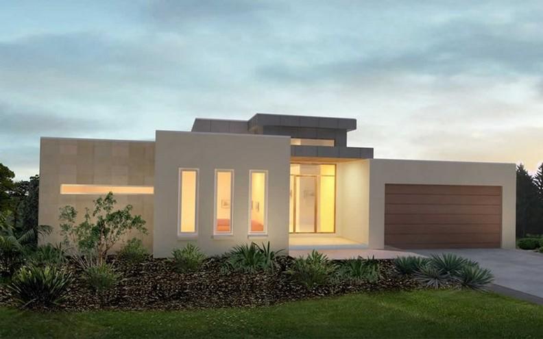 Fachadas de casas modernas de un piso planos y fachadas for Fachadas de casas de una sola planta