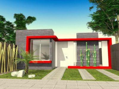 fachadas de casas modernas de un piso7
