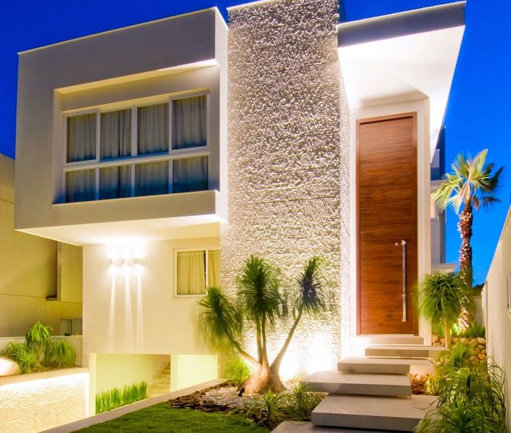 Fachadas de casas modernas de dos pisos planos y for Fachadas casas modernas