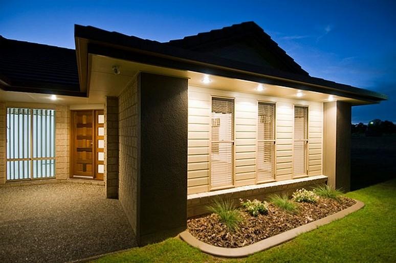 35 fachadas de casas de una planta modernas y vistosas Iluminacion exterior casas modernas