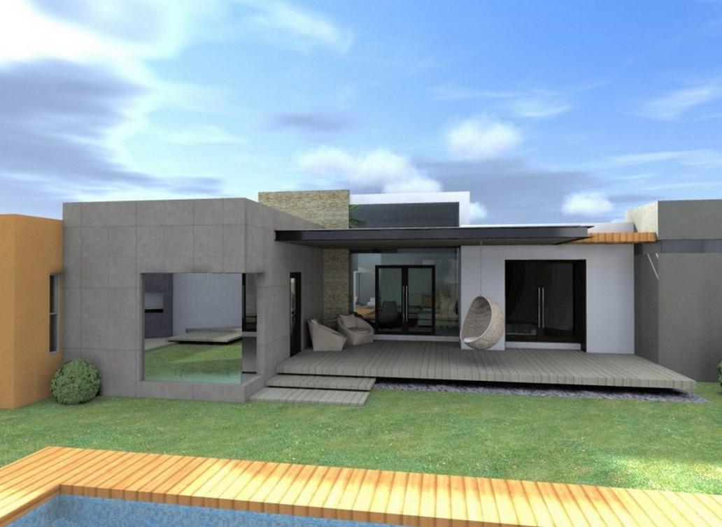 35 fachadas de casas de una planta modernas y vistosas
