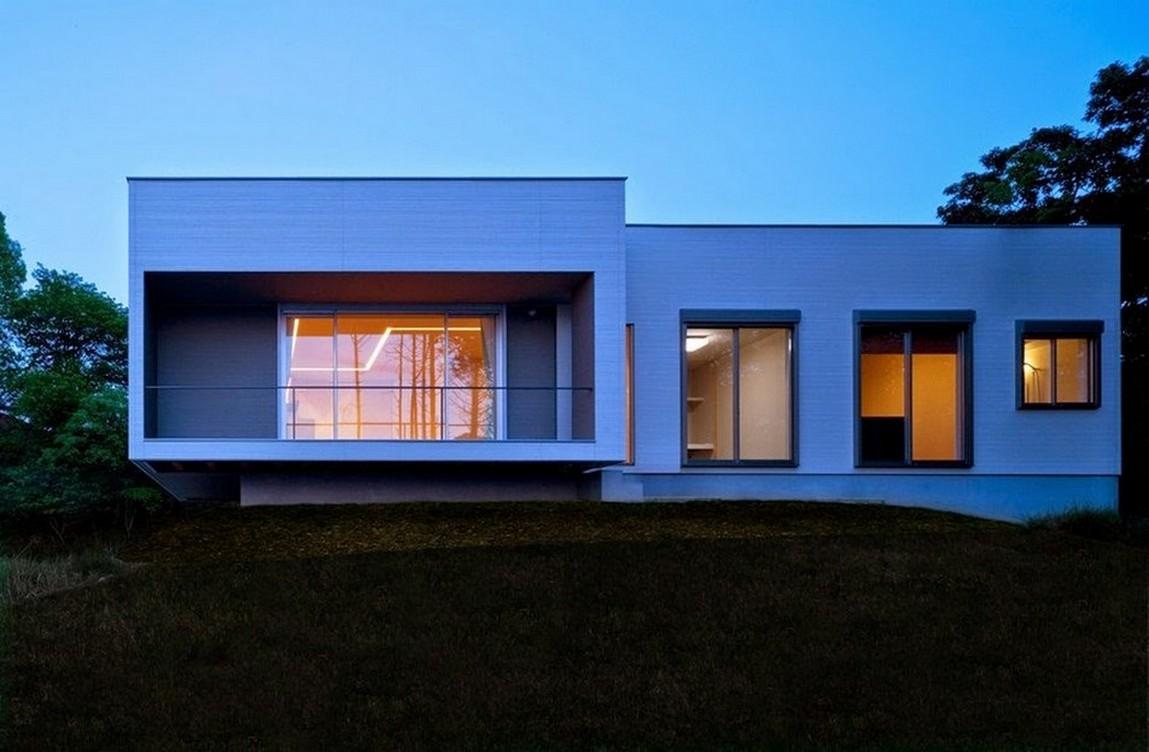 35 fachadas de casas de una planta modernas y vistosas for Casas modernas de una planta minimalistas
