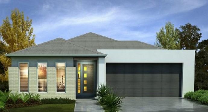 35 fachadas de casas de una planta modernas y vistosas for Fachadas de casas modernas planta baja