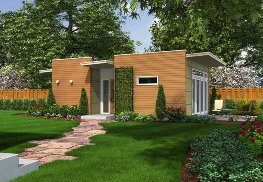 35 fachadas de casas de una planta modernas y vistosas for Fachadas de viviendas de una planta