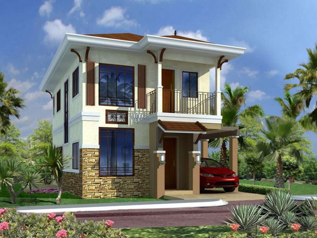Fachadas de casas modernas de dos pisos planos y for Ideas para fachadas de casas