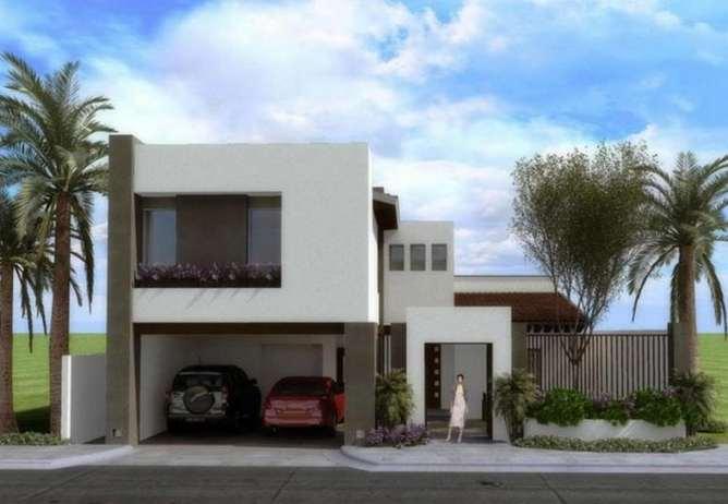 Fachadas de casas modernas de dos pisos planos y fachadas for Fachadas modernas para casas de tres pisos