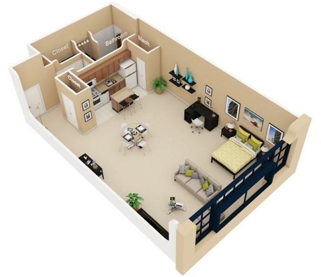 Planos de departamentos peque os planos y fachadas for Diseno de departamentos pequenos