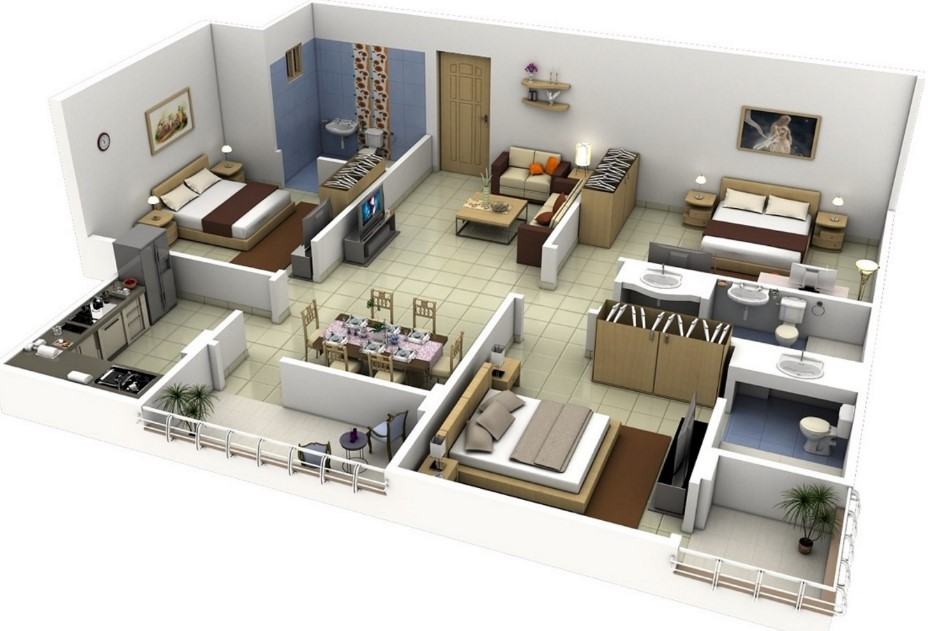 Male Bedroom Layout