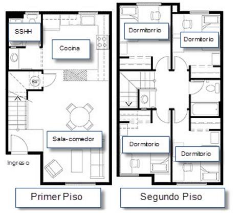 planos de casas modernas y fotos