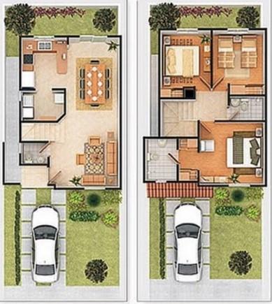 Planos de casas modernas de dos plantas planos y for Planos de casas medianas