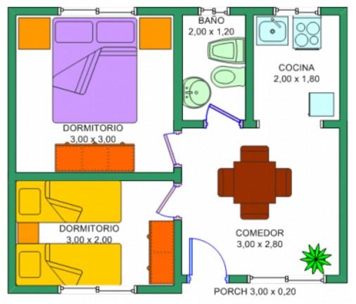 Planos de casas peque as de un piso planos y fachadas for Planos de casas pequenas en 3d