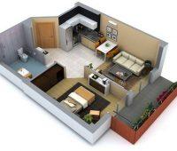 Planos de casas pequeñas de un piso