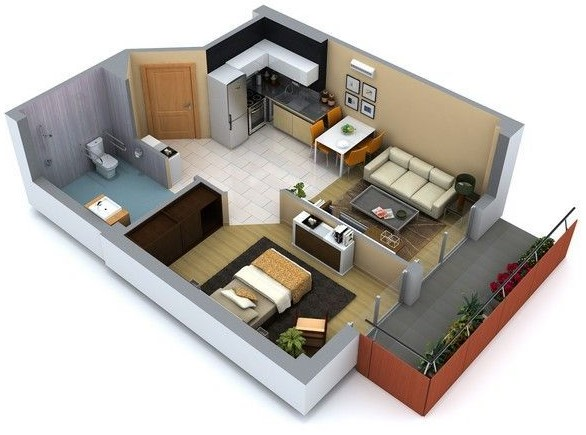 Planos de casas peque as de un piso planos y fachadas for Planos para casas pequenas