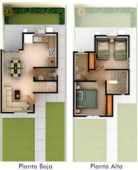 Planos de casas peque as de dos plantas planos y for Planos y fachadas de casas pequenas de dos plantas