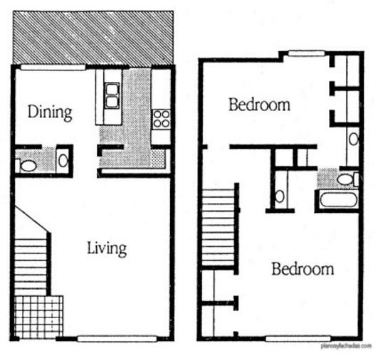Planos de casas peque as de dos plantas planos y - Como hacer un plano de una casa ...