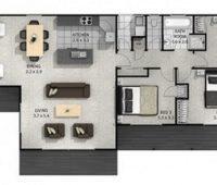 Planos de casas de un piso con 3 dormitorios