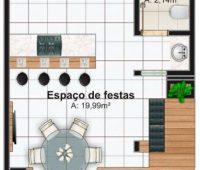Planos de quinchos modernos con medidas e indicaciones