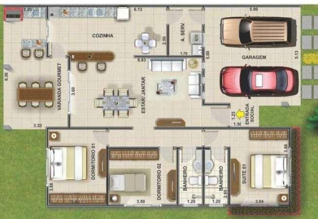 Planos de casas de un piso con 3 dormitorios planos y for Modelos de casas de 3 dormitorios