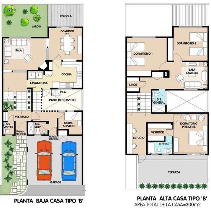 Planos de casas en l amazing planos de casas chicas with - Plano de la casa ...