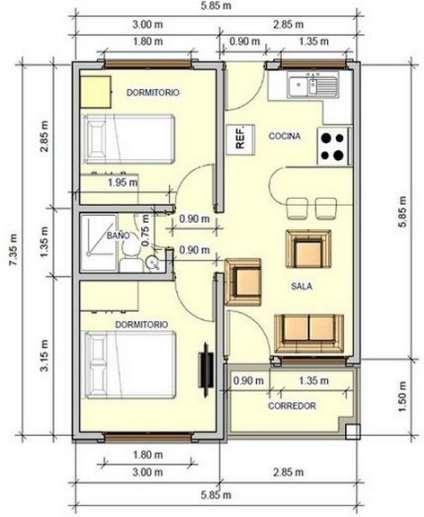 Planos de casas minimalistas una planta dos plantas for Casas en ele planos