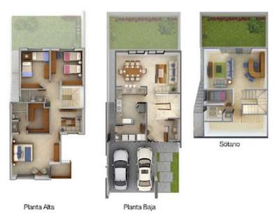 Planos de casas minimalistas una planta dos plantas for Planos de casas medianas