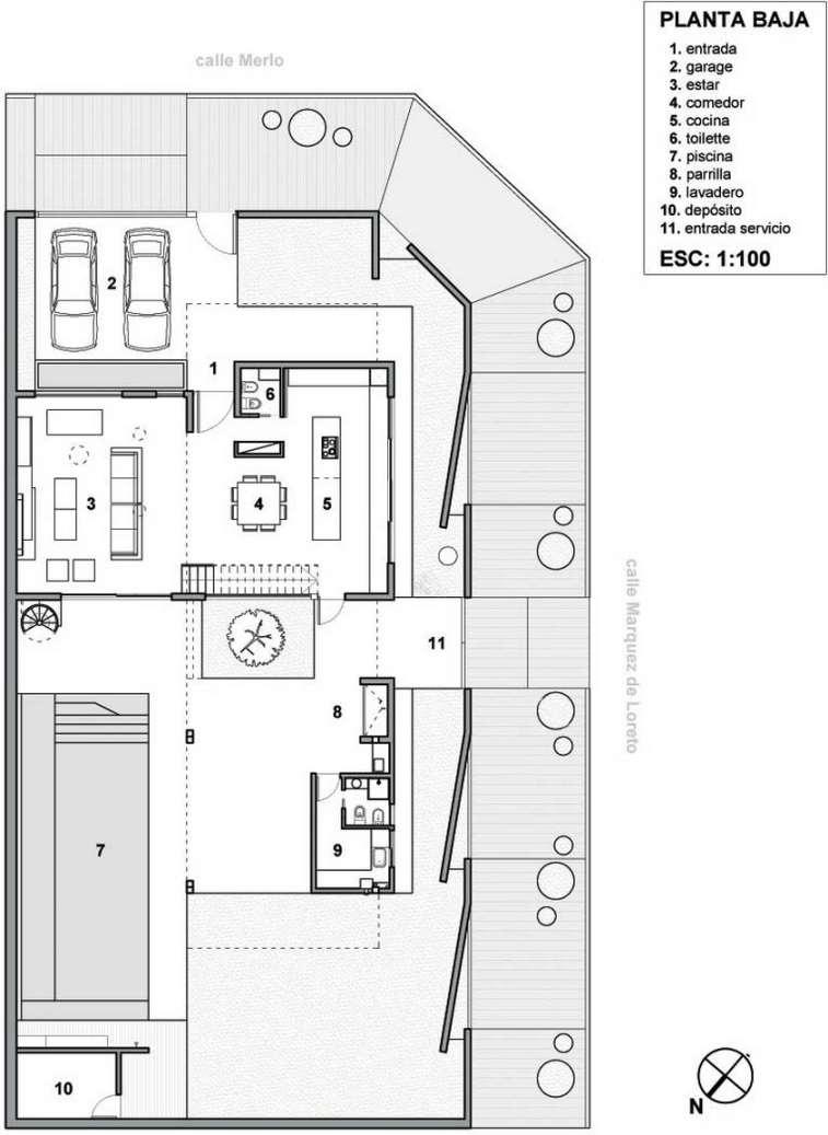 Planos de casas minimalistas una planta dos plantas for Casas minimalistas planta baja