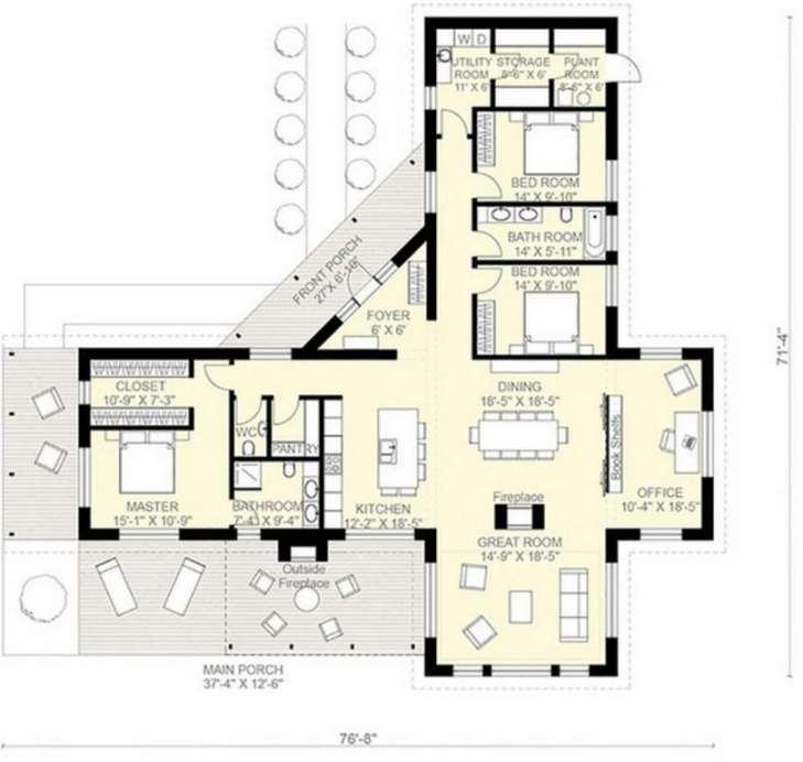 Planos de casas modernas de 3 dormitorios planos y for Modelos de casas de 3 dormitorios