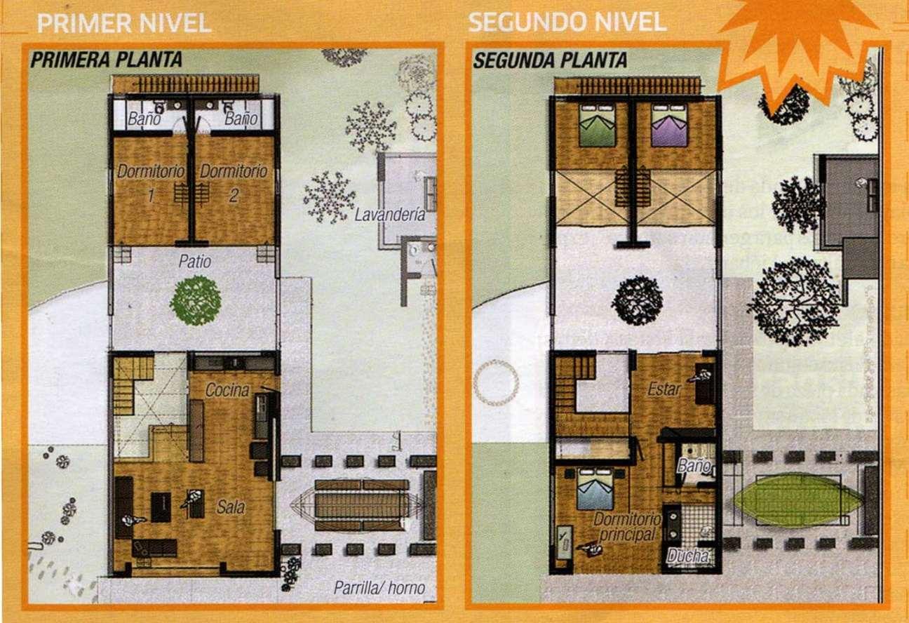 Planos de casas modernas de dos plantas planos y fachadas for Planos casas pequenas modernas