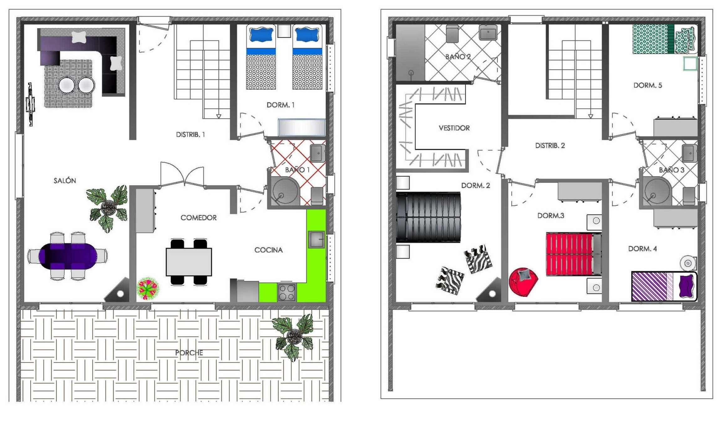 planos de casas modernas de dos plantas planos y