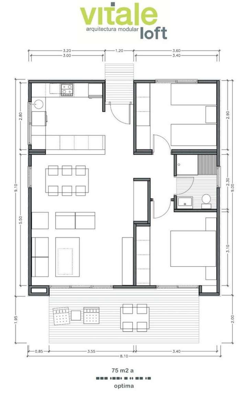Planos de casas peque as de dos plantas planos y for Planos de casas pequenas
