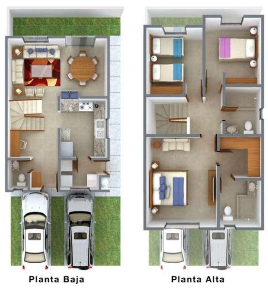 Planos de casas pequeñas de dos plantas - Planos y Fachadas - Todo ...