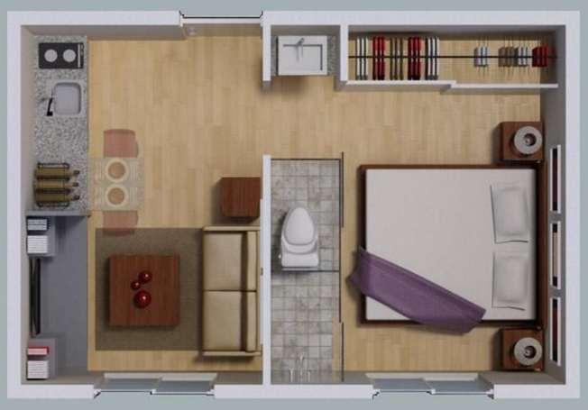 Planos de casas pequenas para solteros for Diseno de apartamento de soltero