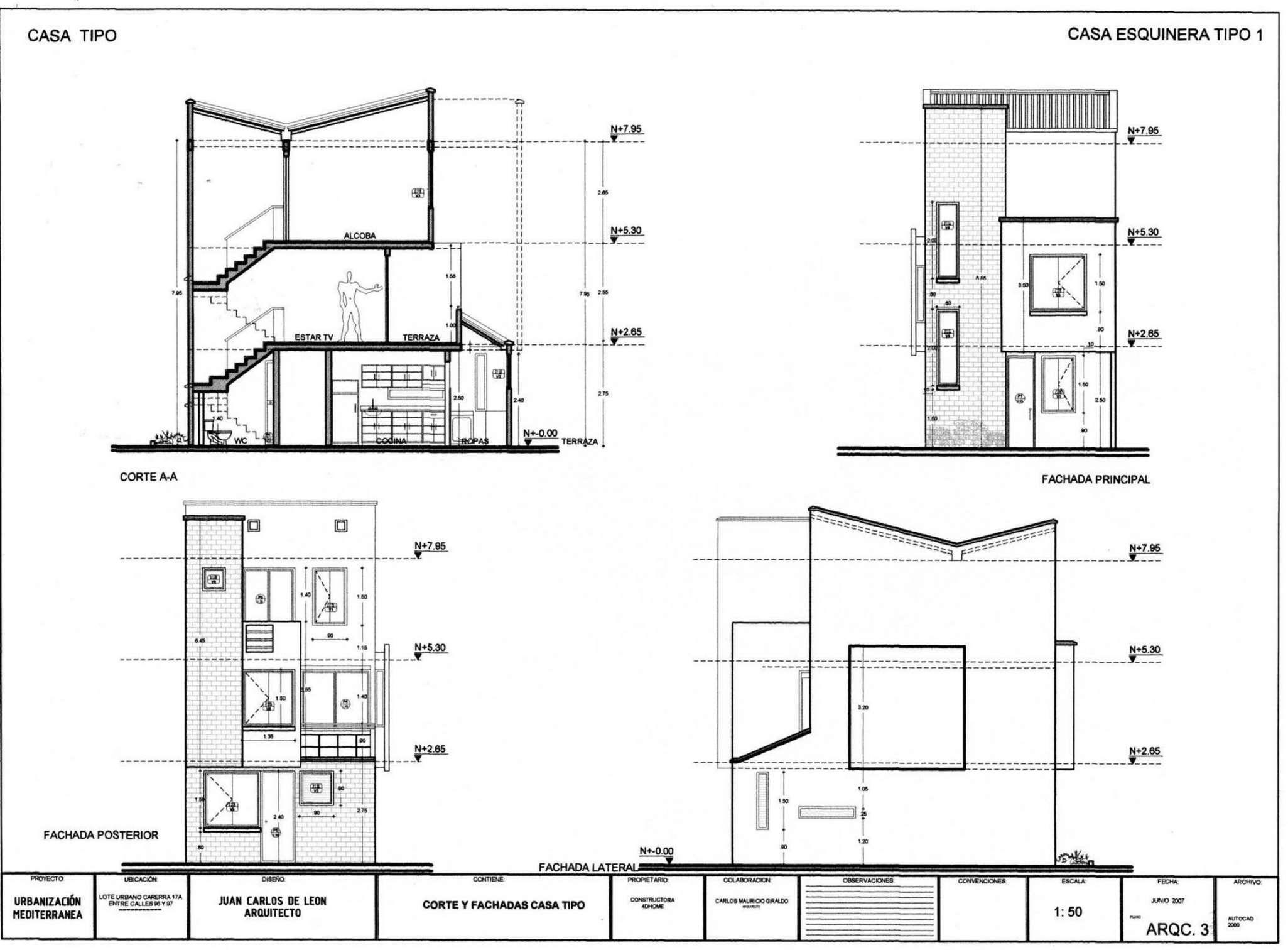 Planos de casas peque as de un piso planos y fachadas for Planos de casas pequenas de un piso gratis