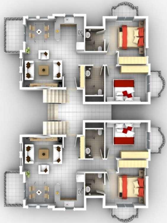 Planos de departamentos peque os planos y fachadas todo for Apartamentos pequenos planos