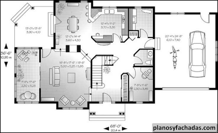 Plano de casa 8543 balc n trasero en el segundo piso c planos y fachadas todo para el Planos de segundo piso