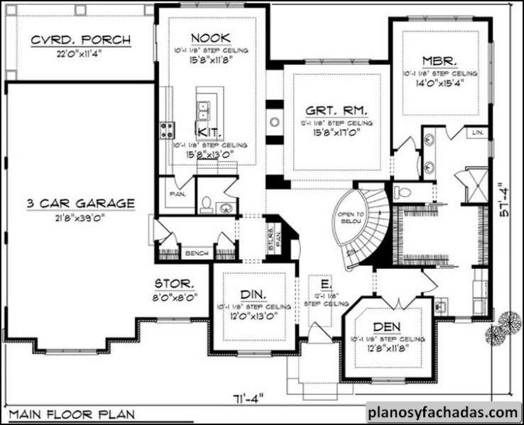 Plano De Casa 7923 Una L Nea De Roofline De Cadera Defi