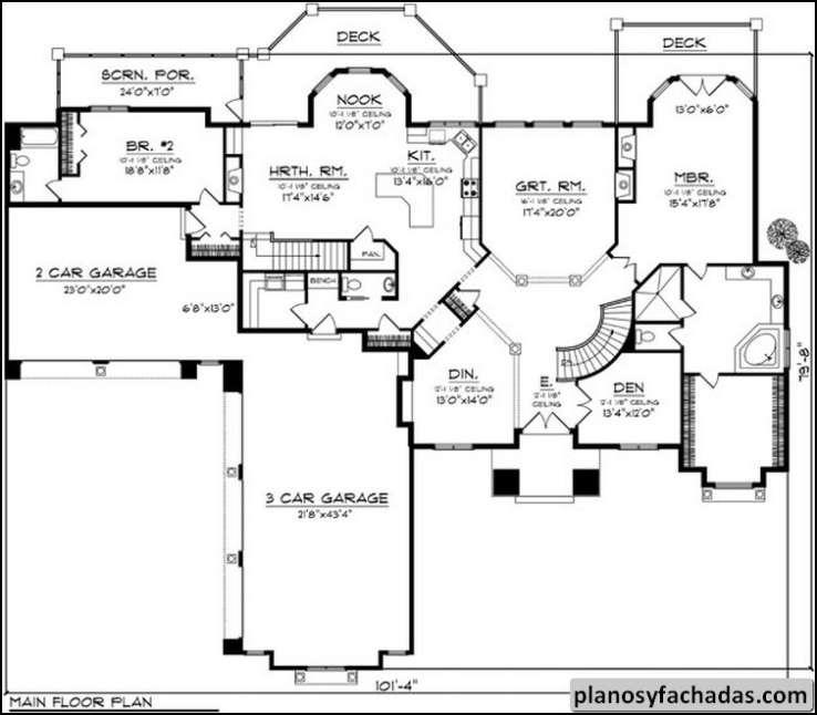 Plano de casa 7912 toscana en el dise o este rancho ti - Diseno de planos de casas ...
