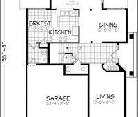 Plano de casa 7492 – Esta atractiva casa de dos plantas v…