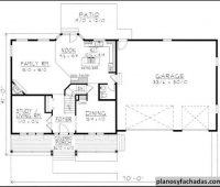 Plano de casa 4548 – Un Porche cubierto de longitud compl…