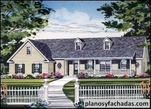 Plano De Casa 671 Un Porche Cubierto Con Pilares Y Bar Planos Y Fachadas Todo Para El Diseño De Tu Casa