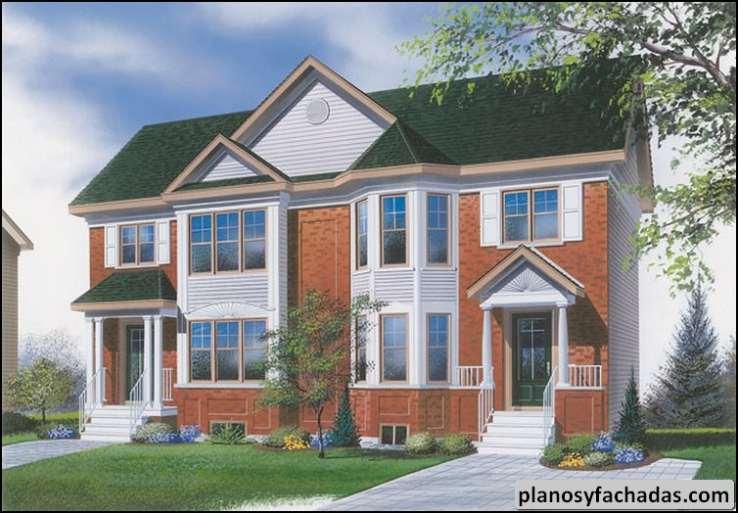 Plano de casa 9140 entradas principales cubiertas vent for Diseno de entradas principales de casas