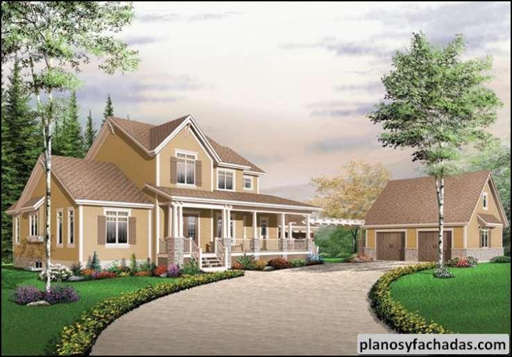 Plano de casa 8583 terrazas delanteras y traseras cubie for Terrazas traseras