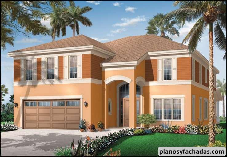Plano De Casa 8568 Extensa Terraza Cubierta En La Parte