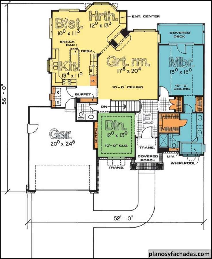 Plano de casa 2490 entre por el arco de entrada a una v - Entradas para casas ...