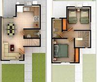Planos de casas pequeñas de dos plantas